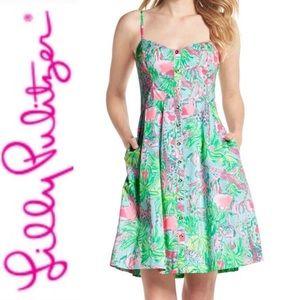 Lily Pulitzer Easton FitNFlare Animal Print Dress